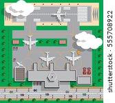 airport infrastructure. view... | Shutterstock .eps vector #555708922