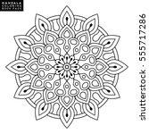 flower mandalas. vintage... | Shutterstock .eps vector #555717286