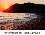 sunset at mediterranean sea | Shutterstock . vector #555719686