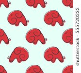 seamless pattern with elephants   Shutterstock .eps vector #555720232