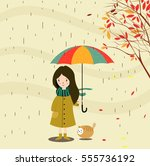 Autumn Background Cartoon...
