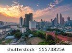 kuala lumpur   13 january 2017  ... | Shutterstock . vector #555738256