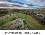 Hadrian's Wall High Up On The...