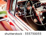 classic red vintage car   Shutterstock . vector #555750055