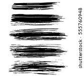 black ink vector brush strokes... | Shutterstock .eps vector #555760948