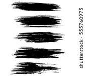 black ink vector brush strokes...   Shutterstock .eps vector #555760975