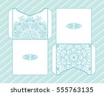a festive envelope  wrapping ... | Shutterstock .eps vector #555763135