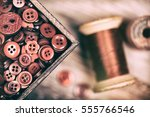 a close up of a box of red... | Shutterstock . vector #555766546