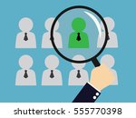 human resources   personal... | Shutterstock .eps vector #555770398