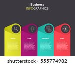business infographics template... | Shutterstock .eps vector #555774982