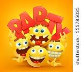 smiley faces emoticon... | Shutterstock .eps vector #555785035