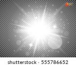 glow light effect. star burst... | Shutterstock .eps vector #555786652