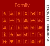 set of family simple icons   Shutterstock .eps vector #555787636