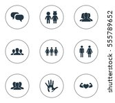 set of 9 simple  icons. can be... | Shutterstock .eps vector #555789652