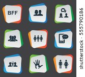 set of 9 simple mates icons....   Shutterstock .eps vector #555790186