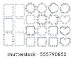 botanical frames and wreaths....   Shutterstock .eps vector #555790852