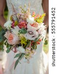 bridal bouquet | Shutterstock . vector #555791452