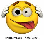 single 3d emoticon isolated on... | Shutterstock . vector #55579351