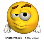 single 3d emoticon isolated on... | Shutterstock . vector #55579363