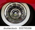 Closeup Of A Chrome Hubcap With ...