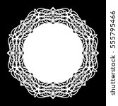 lace round paper doily  lacy... | Shutterstock .eps vector #555795466