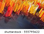 abstract colourful background.... | Shutterstock . vector #555795622