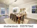 lovely dining room with... | Shutterstock . vector #555797362