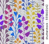 beautiful floral ornament ... | Shutterstock .eps vector #555810142