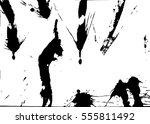 set of black paint  ink  grunge ... | Shutterstock .eps vector #555811492