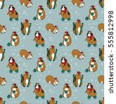 seamless pattern with different ... | Shutterstock .eps vector #555812998