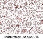 valentine's day vector seamless ...   Shutterstock .eps vector #555820246