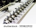typography print machine detail | Shutterstock . vector #555822922