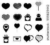 collection icons  valentines...