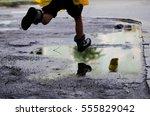 childhood freedom | Shutterstock . vector #555829042