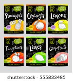 set of colorful labels in... | Shutterstock .eps vector #555833485