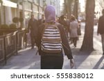 woman with headscarf | Shutterstock . vector #555838012