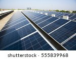 photovoltaic solar panels on... | Shutterstock . vector #555839968