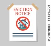 eviction notice  white sheet on ... | Shutterstock .eps vector #555841705