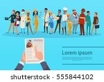 curriculum vitae recruitment... | Shutterstock .eps vector #555844102