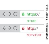 browser address bars showing... | Shutterstock .eps vector #555844816