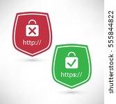 website certificate badges  ... | Shutterstock .eps vector #555844822