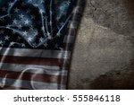 usa flag vintage background | Shutterstock . vector #555846118
