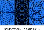 floral geometric lace ornament. ...   Shutterstock .eps vector #555851518