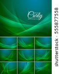 Curly  Abstract Background...