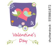 valentines day card | Shutterstock .eps vector #555881872