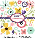 valentines day card | Shutterstock .eps vector #555882466