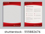 red flyer design template  ... | Shutterstock .eps vector #555882676