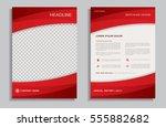 red flyer design template  ... | Shutterstock .eps vector #555882682