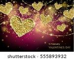 luxury valentines day festive...   Shutterstock .eps vector #555893932