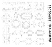 office furniture line symbols... | Shutterstock .eps vector #555903016
